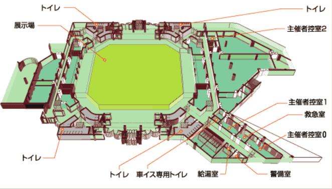 沖縄コンベンションセンター見取り図